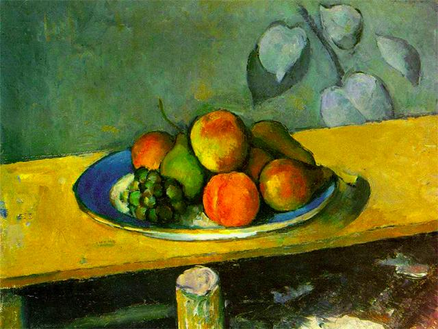 Apples, Peaches, Pears, and Grapes<br />Paul Cezanne, c. 1879-80 wallpaper