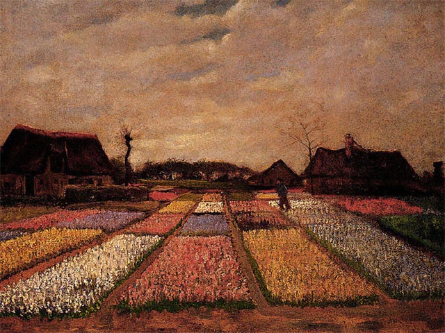 Bulb Field<br />Vincent Van Gogh c. 1883 wallpaper