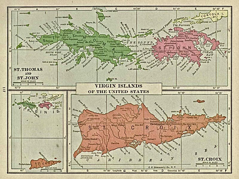 Virgin Islands c 1920 wallpaper