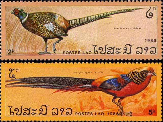 Laos Pheasants Stamps wallpaper