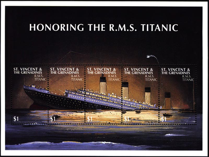 RMS Titanic Stamp wallpaper