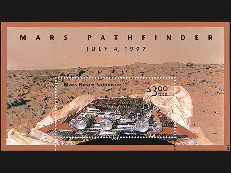 Mars Rover Sojourner Pathfinder Stamp wallpaper