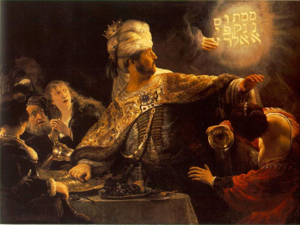 The Feast of Belshazzar<br />Rembrandt c. 1635 wallpaper