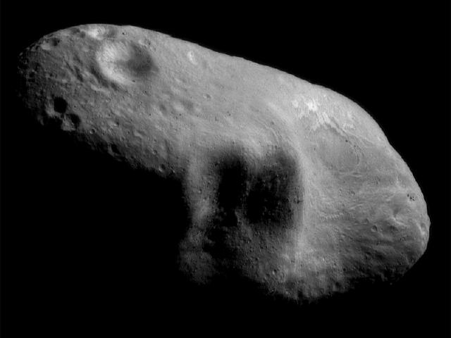 Asteroid 433 Eros 127 miles from NASA's NEAR spacecraft wallpaper