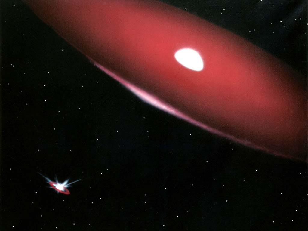 Binary Star System Phi Persei wallpaper