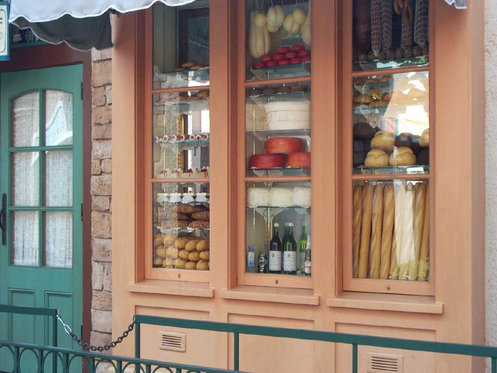 French Storefront wallpaper