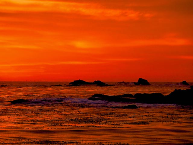Sunset at Point Lobos California wallpaper