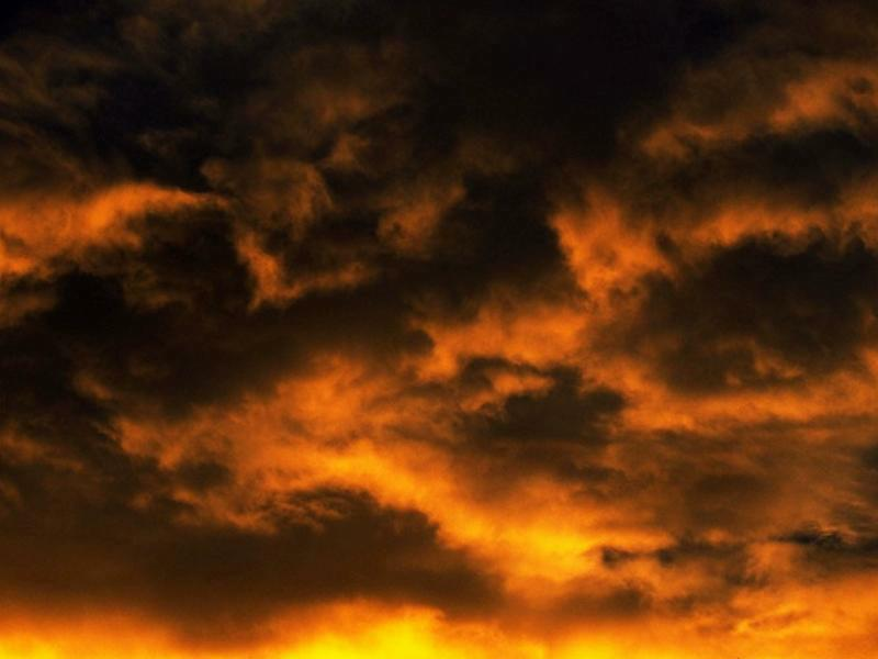 Yellow clouds at sunset wallpaper