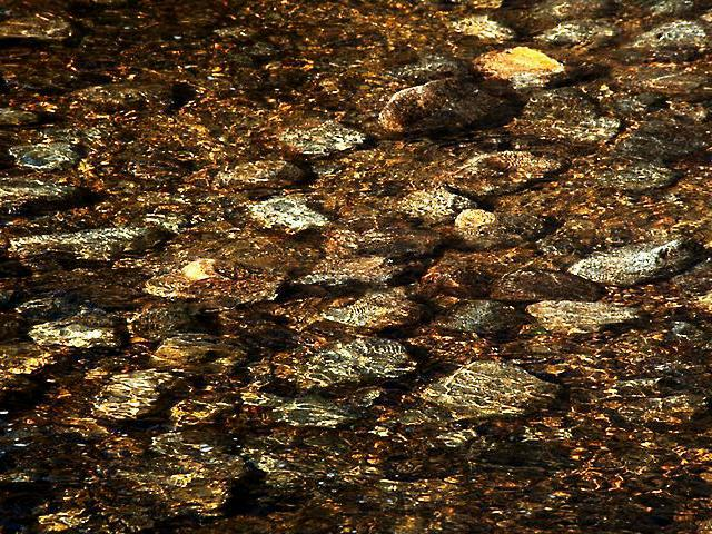 Rocks in water wallpaper