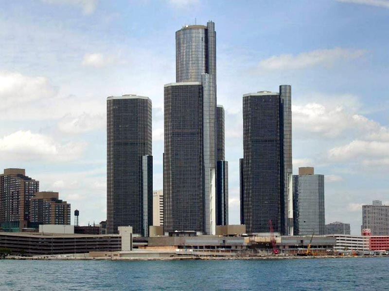 Detroit River Front wallpaper