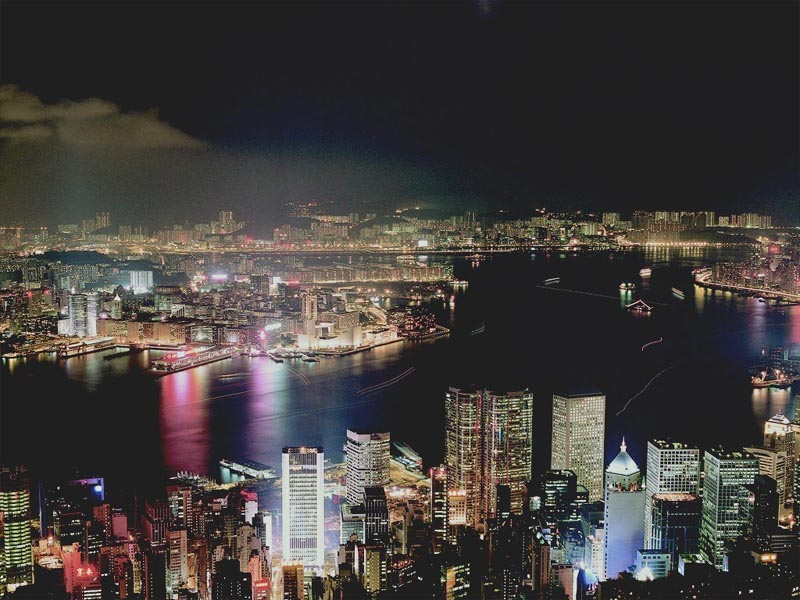 Hong Kong Skyline by Night wallpaper