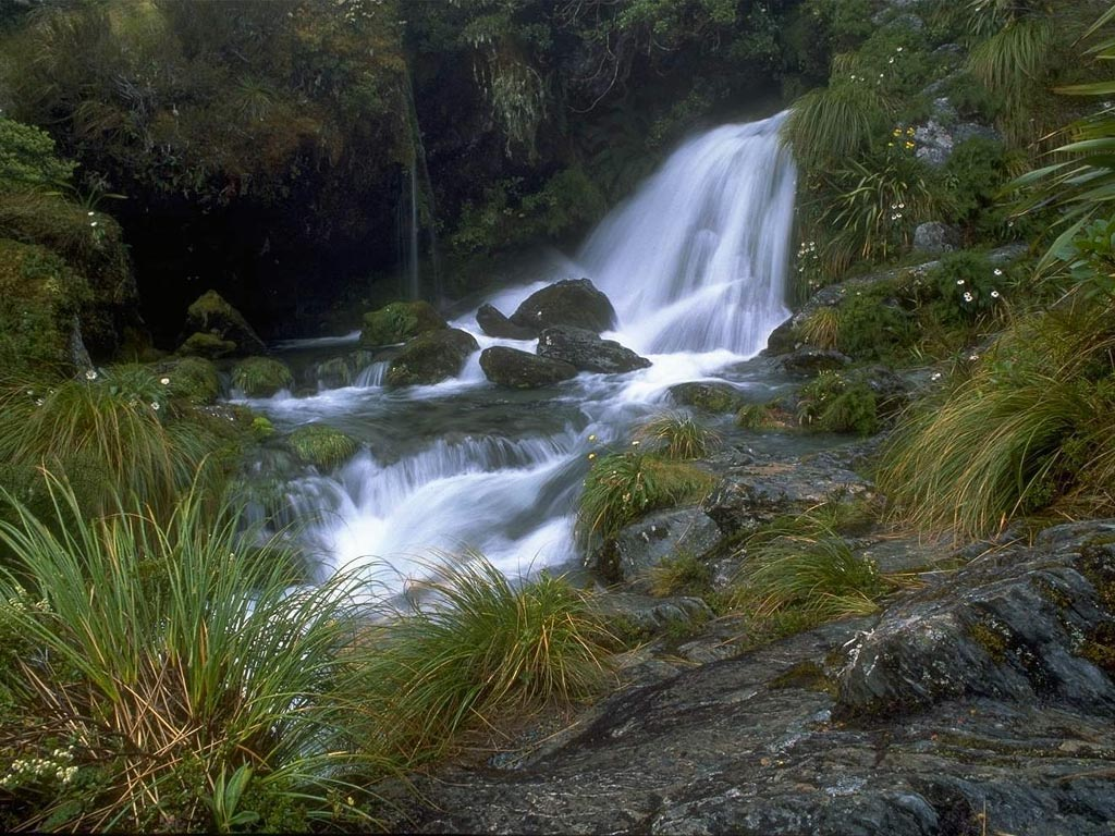 New Zealand Waterfall wallpaper