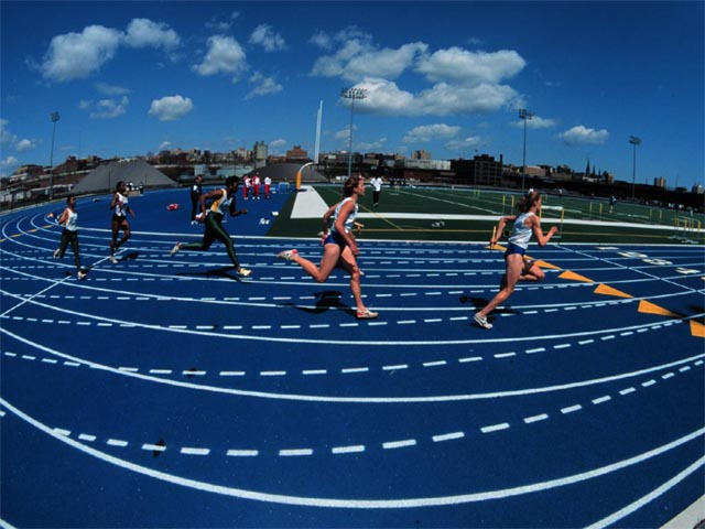 Womens Track at Marquette wallpaper