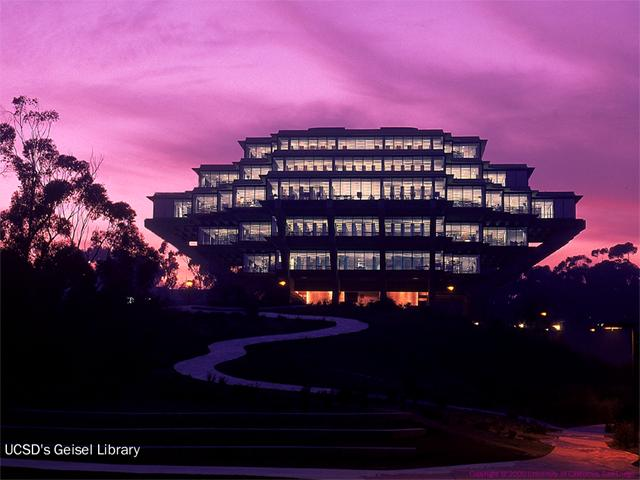 UCSD Geisel Library wallpaper
