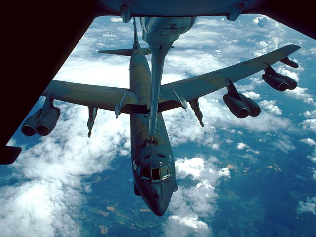 KC-102 Tanker Refueling a B-52 wallpaper