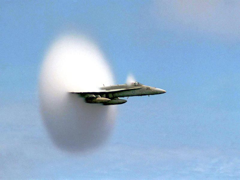 F/A-18 Hornet Breaking Sound Barrier wallpaper